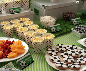 birthday party, cake, and Cookies image