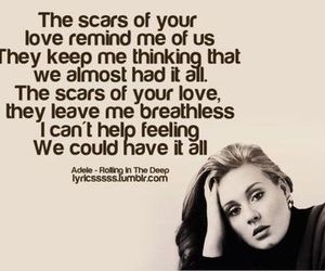 Adele, scars, and love image