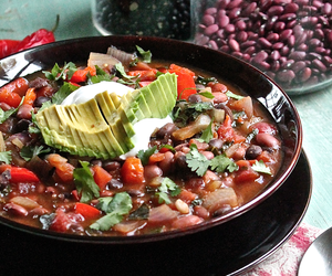 chili, smoky, and black beans image