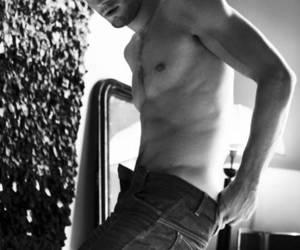 black and white, boy, and Jamie Dornan image