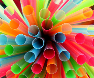 straw, colorful, and colors image