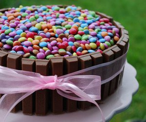 cake, cute, and smarties image