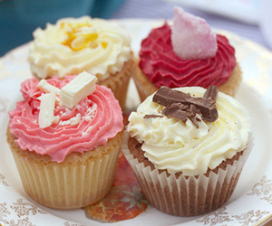 cupcake, pink, and pretty food image