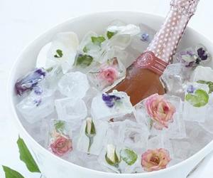 flowers, drink, and champagne image