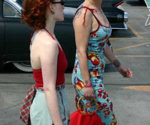 bandana, dress, and hair image