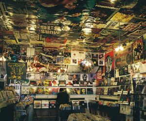 music, record, and store image