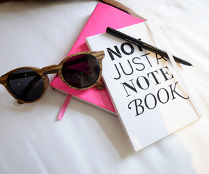 pink, sunglasses, and notebook image