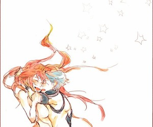 anime, couple, and kamina image