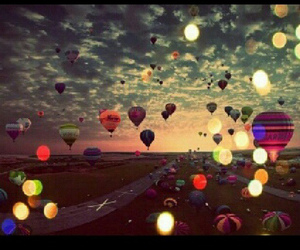 balloons, sky, and beautiful image