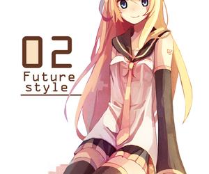 anime girl, kagamine rin, and girl image