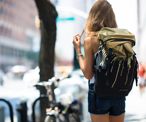 backpack, fashion, and new york image