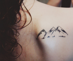 back, mountain, and simple image