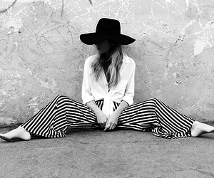 blouse, fashion, and stripes image
