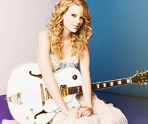 blue, guitar, and Taylor Swift image
