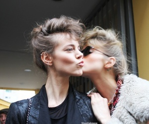 model, kiss, and Abbey Lee Kershaw image