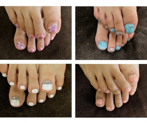 nails, pedicure, and cute image