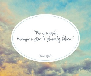 quote, be yourself, and oscar wilde image