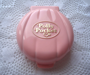 pink, polly pocket, and toys image