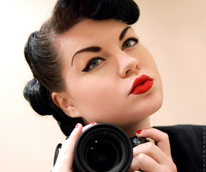 camera, Pin Up, and Self Portrait image