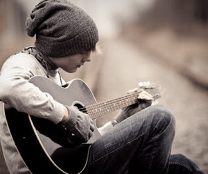beautiful, boy, and guitare image