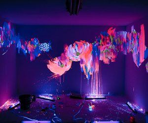 neon, room, and art image