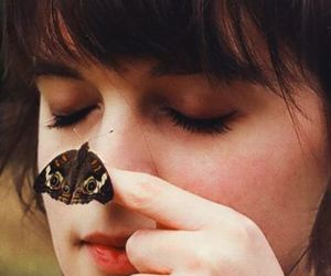 girl, butterfly, and photography image