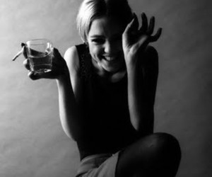 black and white, edie sedgwick, and cigarette image