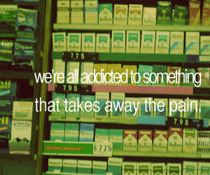 pain, cigarette, and addicted image