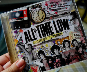 all time low, nothing personal, and cd image