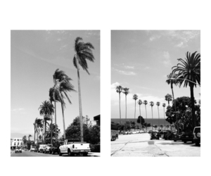 black and white, cali, and city image