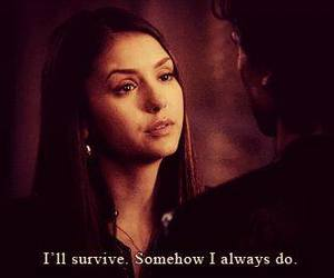Nina Dobrev, survive, and elena gilbert image