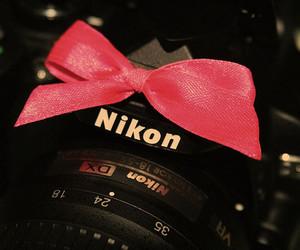 camera, nikon, and pink image