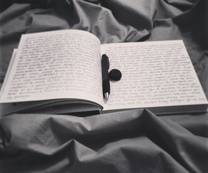 black and white, depressed, and write image