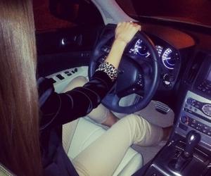 car, girl, and long hair image