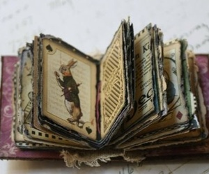 book, alice in wonderland, and rabbit image