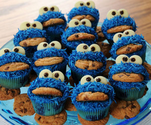 cupcake, blue, and Cookies image
