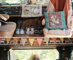 van, hippie, and vintage image