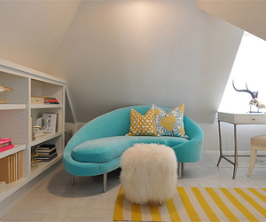 blue, room, and girly image
