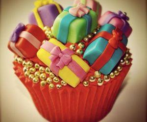 cupcake, gift, and present image