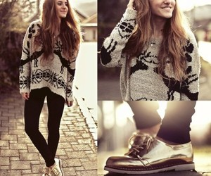 fashion, sweater, and shoes image