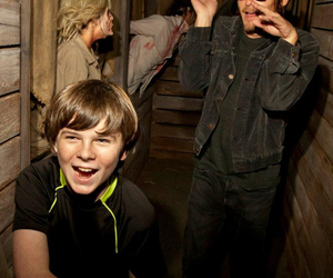 the walking dead, norman reedus, and chandler riggs image