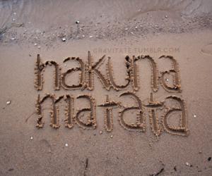 hakuna matata, beach, and sand image