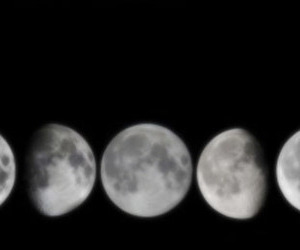 moon, black, and black and white image