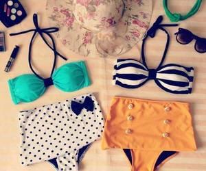 bikini, summer, and beach image
