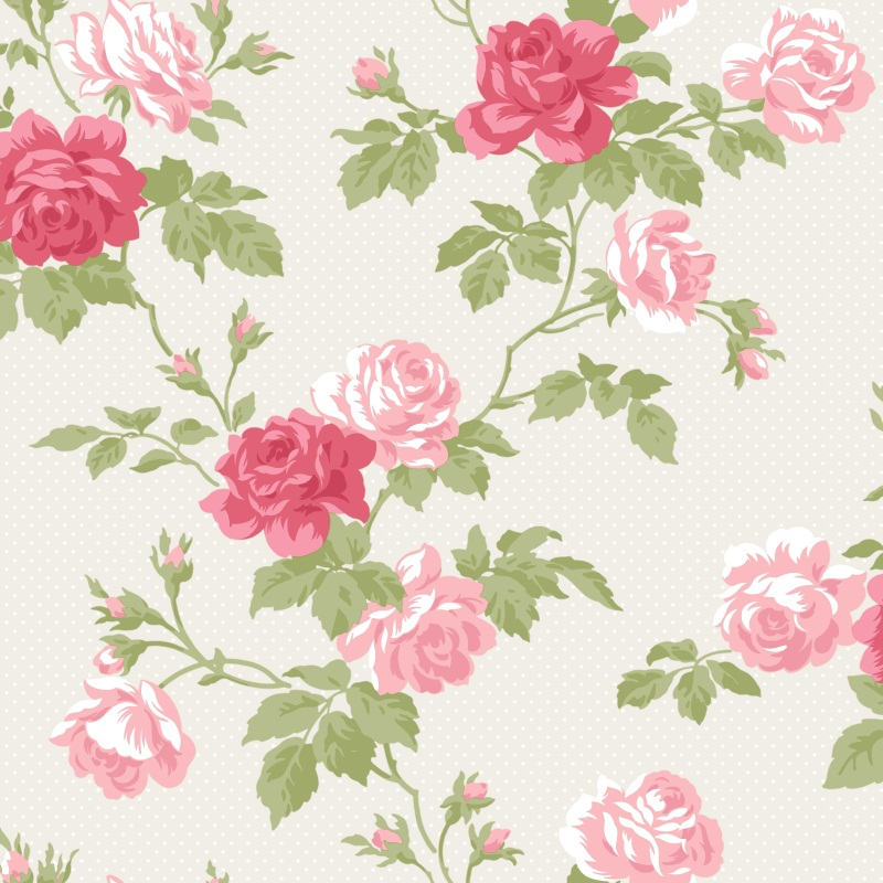 Floral Shabby Chic Bouquet Wallpaper