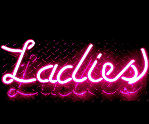 ladies, pink, and neon image