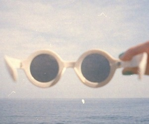 vintage, sunglasses, and summer image