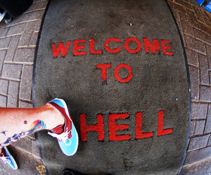 hell, tattoo, and welcome image