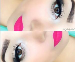 eye, lips, and lipstick image