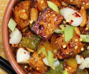 chinese food, rice vinegar, and tofu image